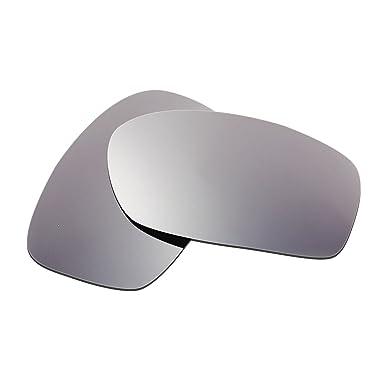 HKUCO Plus Mens Replacement Lenses For Oakley Crankcase Sunglasses Titanium Mirror Polarized hAc8TL25
