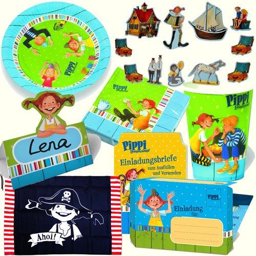 8 Partytüten * PIPPI LANGSTRUMPF * Aus Stabilem Papier Für Kindergeburtstag  // Kinder Geburtstag Karten Katzen Geschenktüten Tüten Mitgebseltüten  Mitgebsel ...