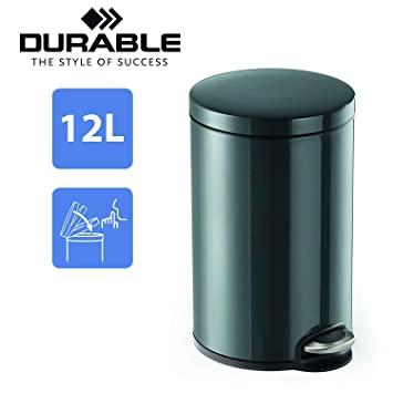 mit Absenkautomatik farbig Kosmetikeimer Metall Mülleimer Treteimer 12 Liter