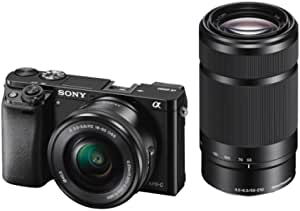 Sony Alpha a6000 Mirrorless Digital Camera with 16-50mm and 55-210mm Power Zoom Lenses