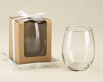 Kate Aspen Cajas de regalo para copas de vino sin tallo, perfecto ...