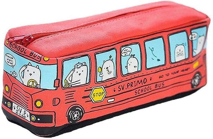 Xuxuou Toile Student crayon sac,Dessin anim/é cr/éatif Trousse,cosm/étique stylo crayon papeterie stockage sac Kawaii Papeterie Pouch Scolaires Bureau