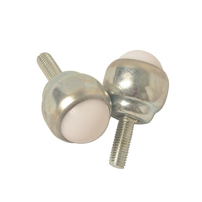 Lot de 4 E-meoly deux trous 3/cm en nylon Boule Transmission de roulement Convoyeur de transfert pour meubles