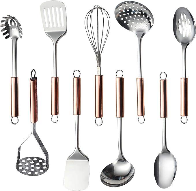 A QUNANEN 1PC Kitchen Cooking Utensils Premium Heat Resistant Baking Tools Durable Practical Heat Resistant Kitchen Tool Cookware Set