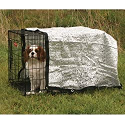 6' by 6', Silver Dog Crate Solar Canopy