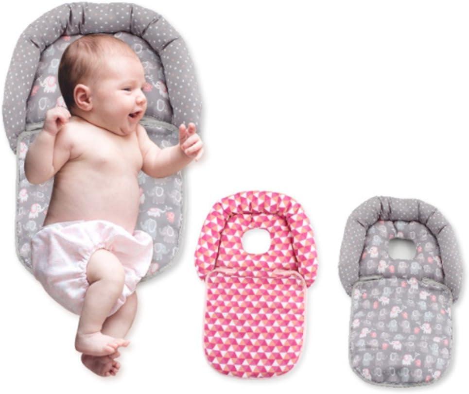 Blanketswarm Baby-Kinderwagensitz K/örperunterst/ützung weich M=43X28.5CM Baumwolle Schutzkissen f/ür Kinderwagen und Rollen Elephant Pattern f/ür 0-18 Monate bequem