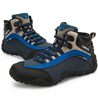 b14db74e56ae TANTU Men's Outdoor Leather high Climbing Shoes,Hiking Shoes,Adventure Shoes,Backpack  Shoes