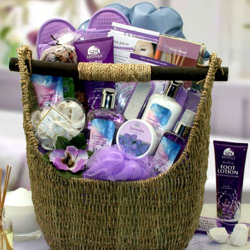 Relax and Enjoy with the Soothing Lavender Spa Gift Basket by The Gift Basket Gallery