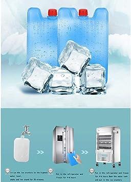 Aires acondicionados móviles Ventilador de Aire Acondicionado doméstico Ventilador de Aire Acondicionado móvil pequeño purificador de Aire/humidificador/Aire Acondicionado pequeño (Dos Estilos DIS: Amazon.es: Hogar