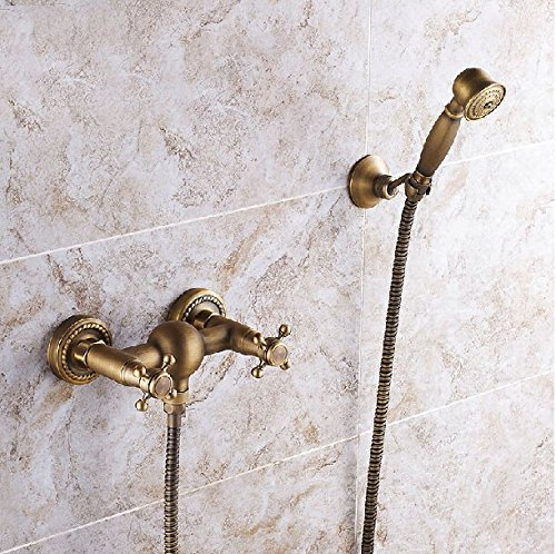 Style 1 Maifeini Modern Antique Brass Shower Faucet Bathroom Shower Hot And Cold Shower, Style 1
