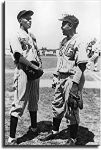 FINDEMO Jackie Robinson and Satchel Paige Poster Painting on Canvas Bedroom Wall Art Decoration Pictures Home Decor -682 (unframed,12x18inch)