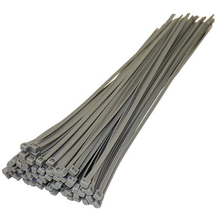 All Trade Direct 500 x plateado/gris bridas para cables 370 mm X 4,