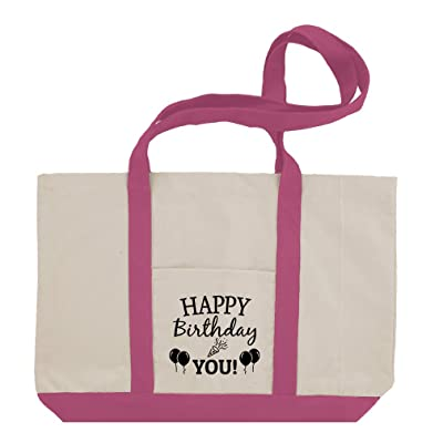high-quality Happy Birthday To You #2 Cotton Canvas Boat Tote Bag Tote