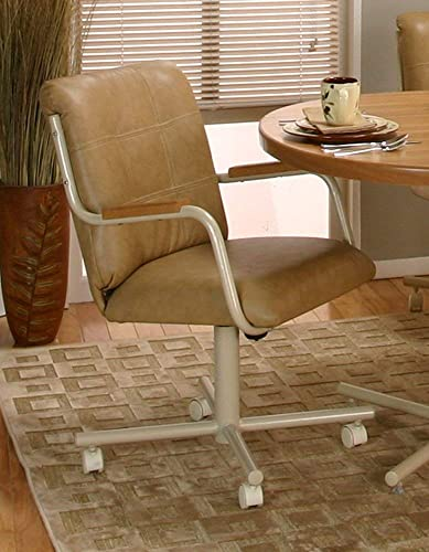 Casual Rolling Caster Dining Chair