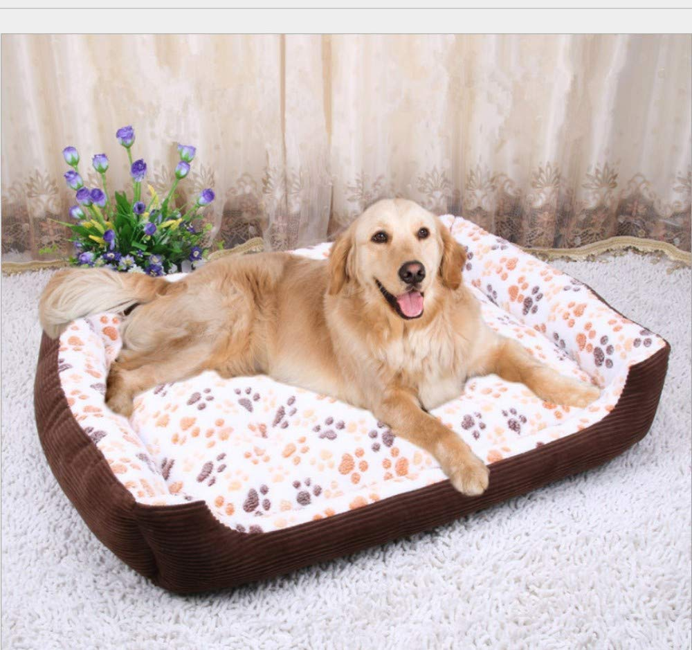 35KG pet),A (90X75X15CM 35KG pet),A (90X75X15CM GZDXHN Kennel Winter Warm Small Medium And Large Dog Pet Nest Thick Dog Bed Cat Litter=
