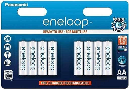 Panasonic Eneloop SY3052647 - Pack 8 Pilas Recargables, AA: Amazon.es: Electrónica