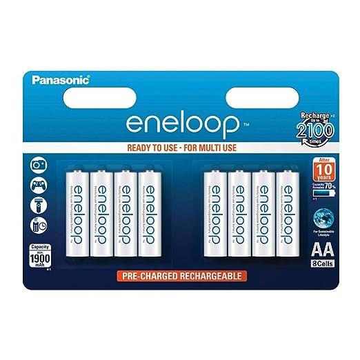 Panasonic Eneloop SY3052647 - Pack 8 Pilas Recargables, AA: Amazon ...