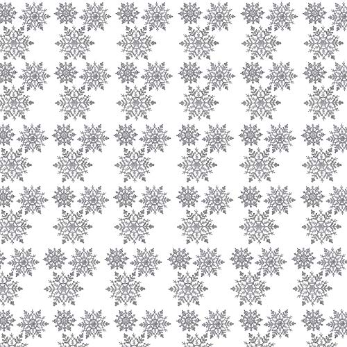 Decorations Christmas Wholesale (BANBERRY DESIGNS Silver Glitter Snowflake Christmas Ornaments - Set of 72 Silver Glitter Snowflakes - 24 pcs Each 4