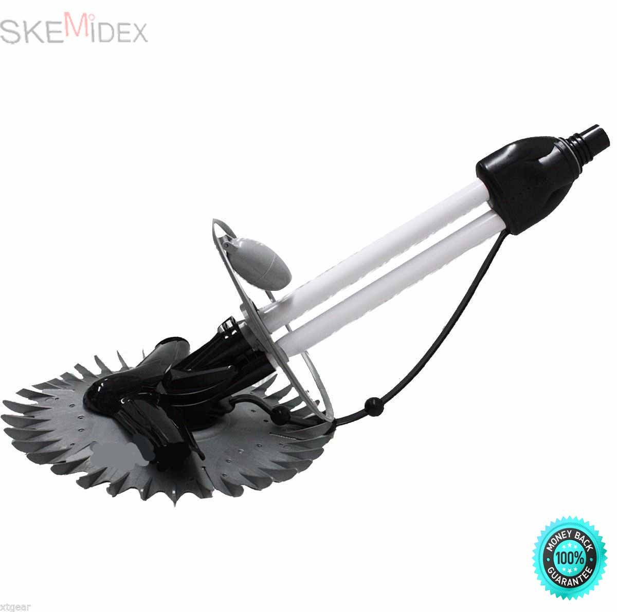 SKEMiDEX---Automatic Swimming pool clener inground above ground Deluxe Inground / above Pool Cleaner, Floor Wall climbing cleaner The Deluxe Inground Pool Cleaner has the power to clean your inground