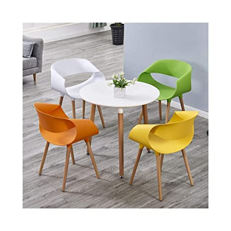 Sensational Amazon Com Qiqi Life Dining Table And 4 Chairs Set Wood Creativecarmelina Interior Chair Design Creativecarmelinacom