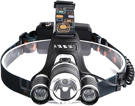linterna de cabeza con Baterías de Hikpro, Linterna Cabeza 5000Lum ...