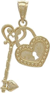 14k Yellow Gold N Key Charm