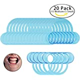 ESport 20 Pack (15 Medium + 5 Small) C-Shape BlueTeeth Whitening Cheek Retractor/ Mouth Opener, Intraoral Cheek Lip Retractors for Watch Ya Mouth, Speak Out & Mouth Guard Challenge Game