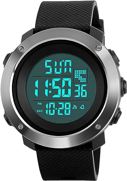 XFCS - Reloj Digital Deportivo para Hombre, Esfera Grande ...