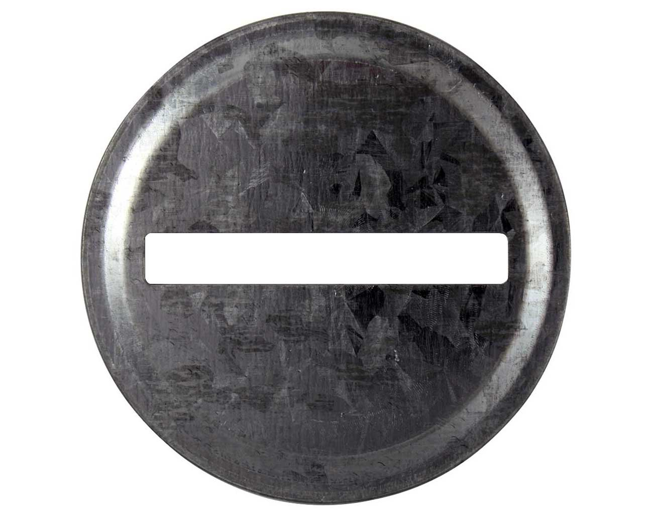 Coin Slot Bank Galvanized Metal Lid Inserts for Mason, Ball, Canning Jars (10 Pack, Regular Mouth)