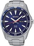 Seiko - SNE391P1 - Solar - Montre Homme - Automatique Analogique - Cadran Bleu - Bracelet Acier Gris