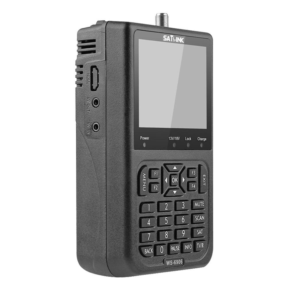 HD Digital Satellite TV Finder KOBWA SATlink WS-6906 3.5 LCD Digital Satellite Signal Finder Meter Black