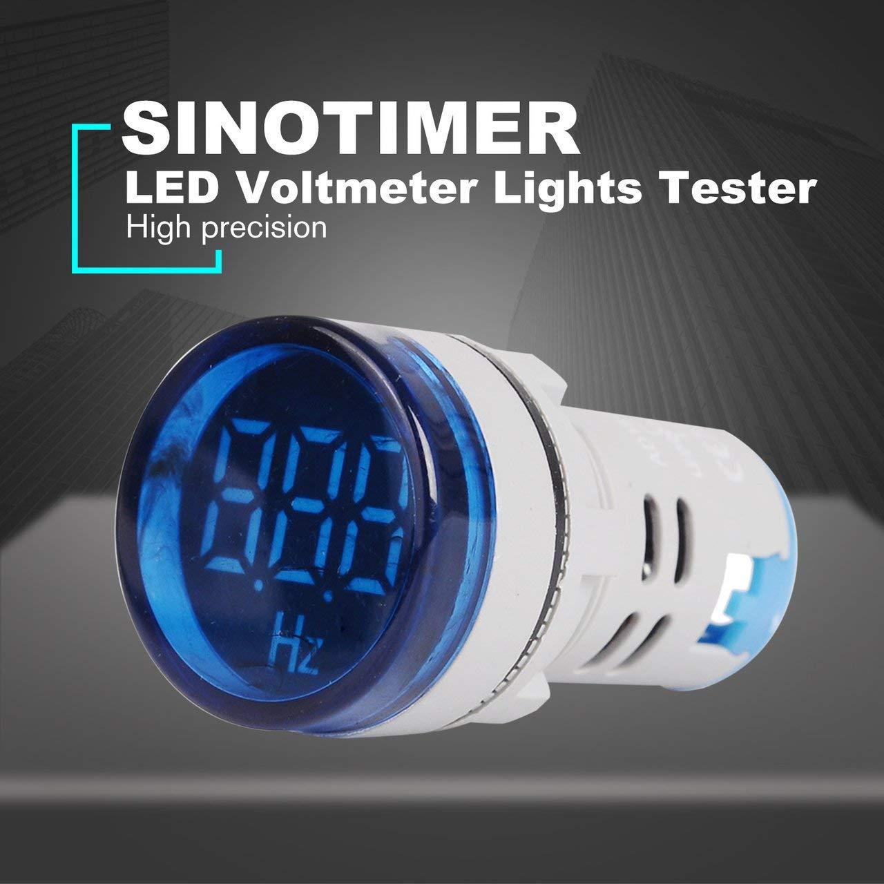 SINOTIMER ST16HZ-03 Voltmeter Lights Tester Signal Lamp Lights Tester 20-75Hz