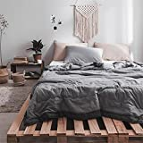 Air Conditioning Quilt Nordic Pure Color Simple Washed Cotton Suitable For Home (Size : 150200cm)