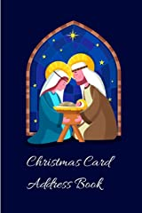 Christmas Card Address Book: Mailing Address Log Book and 10 Year Christmas Card Tracker With Tabs (Baby Jesus) Paperback