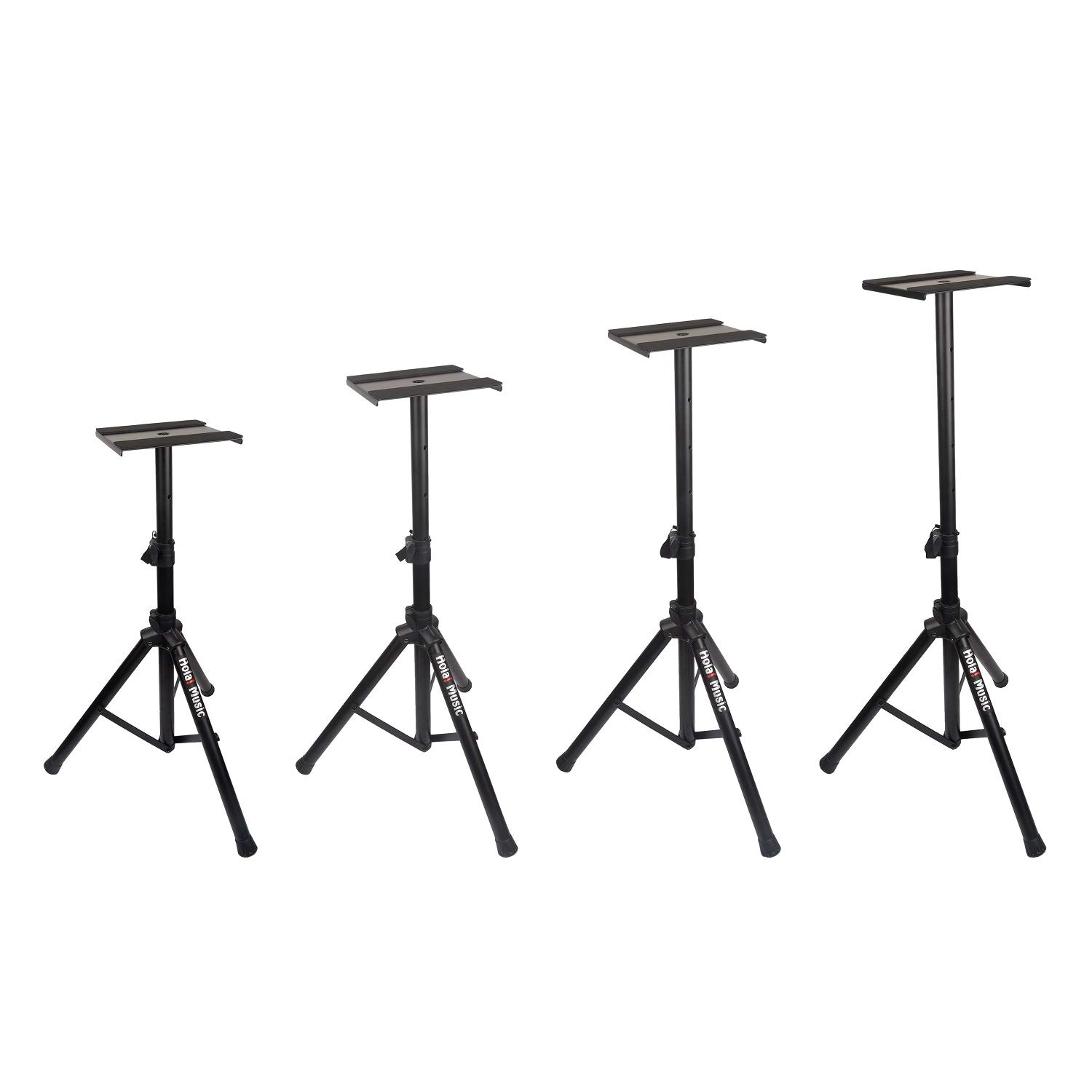 PAIR of Studio Monitor Speaker Stands by Hola! Music, Professional Heavy-Duty Tripod Structure, Adjustable Height, Model HPS-600MS by Hola! Music (Image #4)