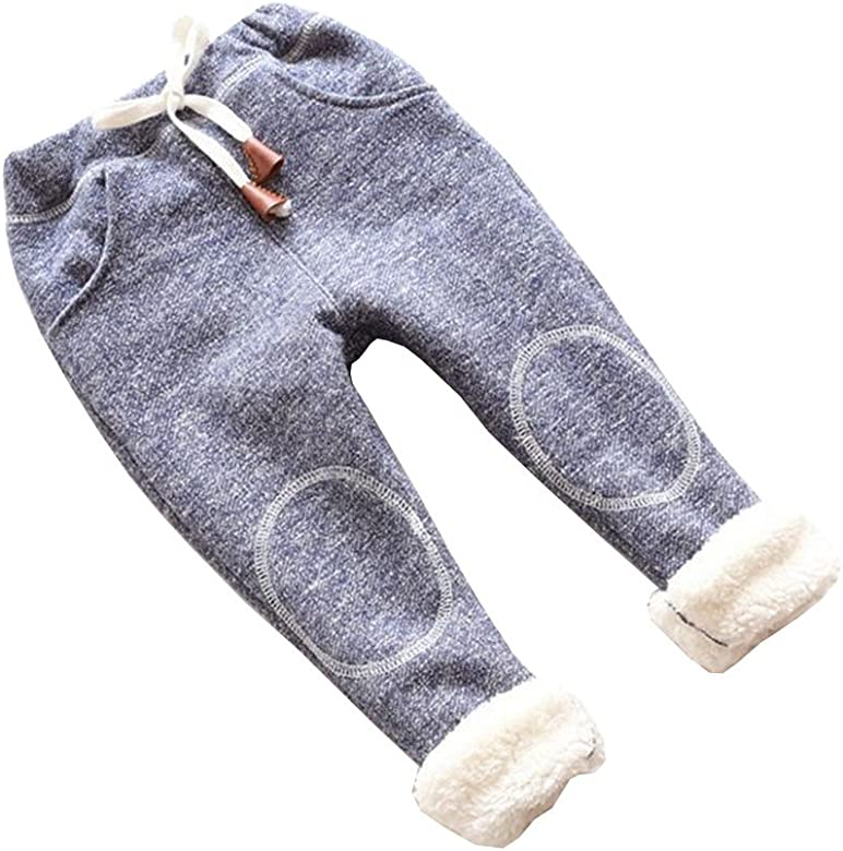 a251a6a0039bc Autumn Baby Girls Winter Leggings Children Plus Thick Velvet Pants Casual  Trousers Kids Warm Girl Christmas Pants