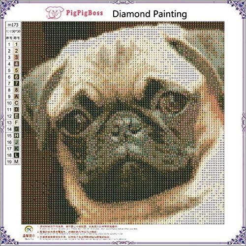 30 x 30 cm 6806 Good01 Pug Dog 5D pittura diamante cristalli ricamo DIY paint-by-diamond kit resina/ /Kit per punto croce