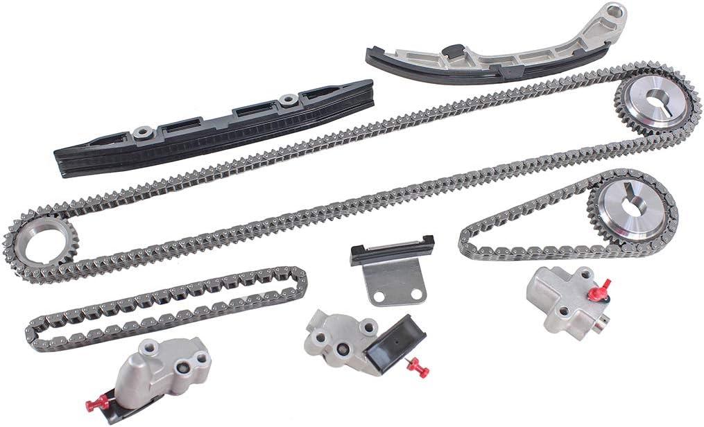 JX35 Pathfinder Murano DNJ TK656 Timing Chain Kit for 2007-2015 // Infiniti Nissan//Altima Quest QX60 // 3.5L // DOHC // V6 // 24V // 3498cc // VQ35DE