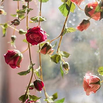 Miguor - Vinos Artificiales de Rosas para decoración de Boda, diseño de Rosas y Flores, 1 Unidad: Amazon.es: Hogar