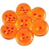 (Large Size (76mm)) - New DragonBall Z Stars Crystal Glass Ball 7pcs with Gift Box