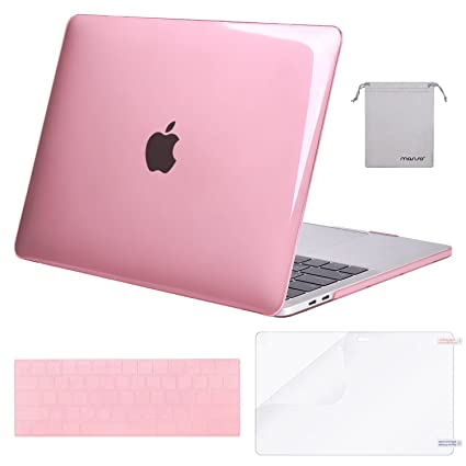 MOSISO MacBook Pro 13 Case 2018 2017 2016 Release A1989/A1706/A1708,  Plastic Hard Shell & Keyboard Cover & Screen Protector & Storage Bag  Compatible