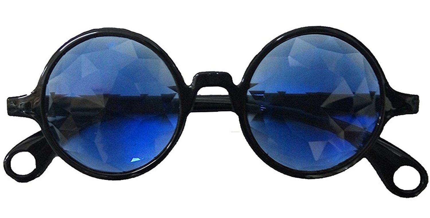 Sparkling John Lennon's Kaleidoscope Glasses with Blue Lenses Izgut Ltd