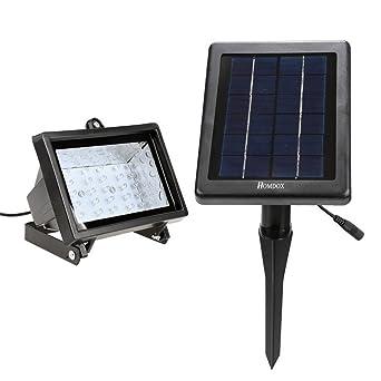 Homdox Solar 30 LED Außenleuchte Strahler Solarleuchte Fluter ...