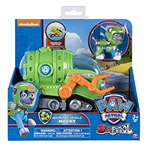 Paw Patrol Basic Vehicle Rocky Sea Patrol Action Figure by Spin Master