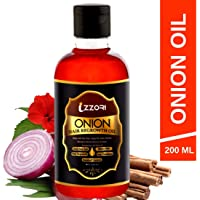 IZZORI Natural Red Onion Hair Oil for Nourishing, Regrowth, Anti-Hair Fall and Dandruff Control with Natural Ingredients and 14 Essential Oils for Men and Women (200 ml)
