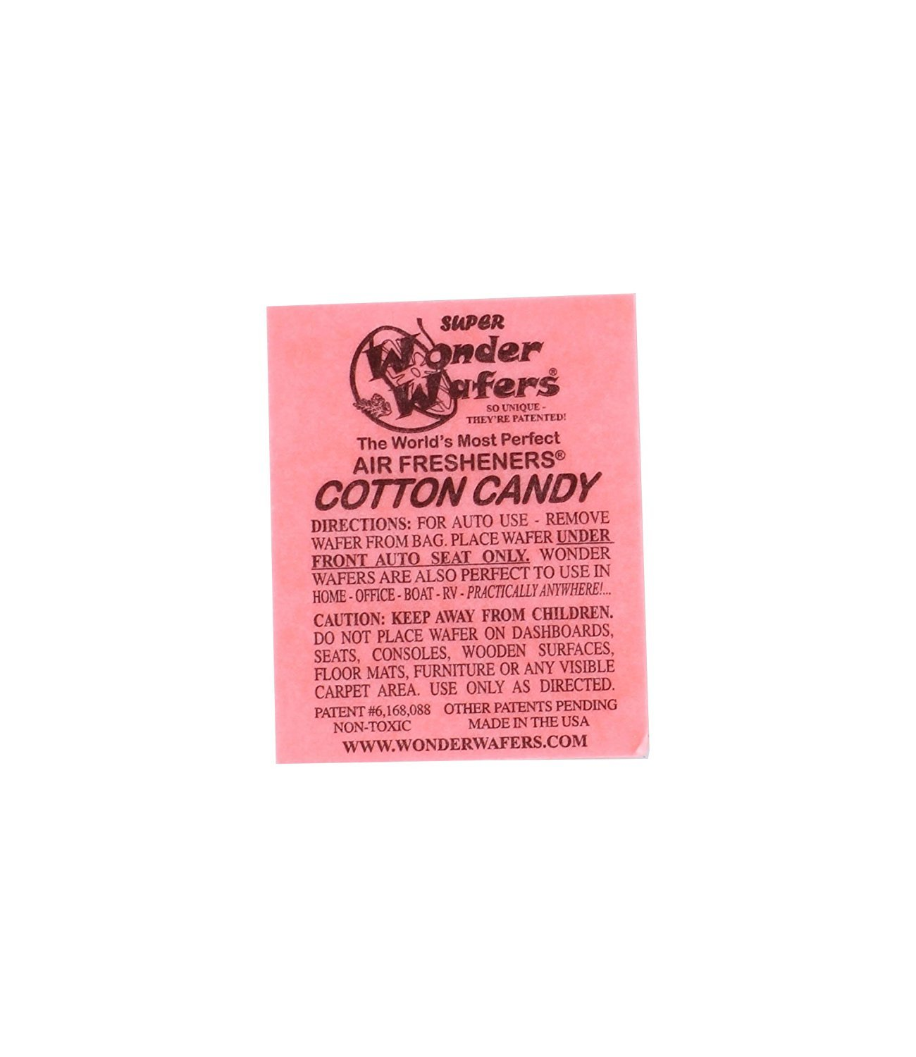 Amazon com wonder wafers 25 ct individually wrapped cotton candy air fresheners automotive