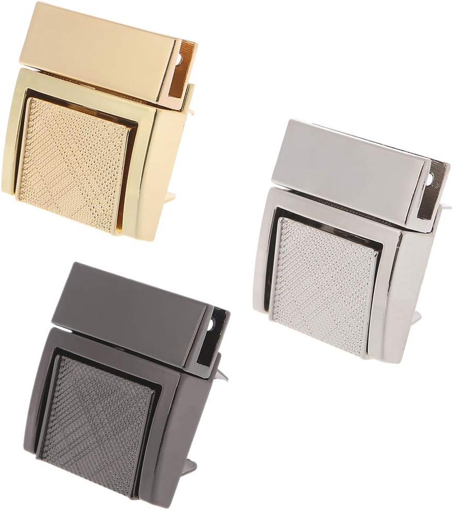 Wuweiwei12 1 St/ück Schnalle Twist Lock Hardware f/ür Taschenform Handtasche DIY Drehschloss Taschen-Verschluss gold