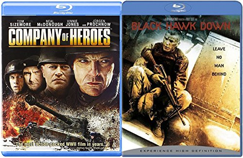 Company of Heroes Blu Ray + Black Hawk Down 2 Pack Military Movie Action Next Mission Double Feature Set