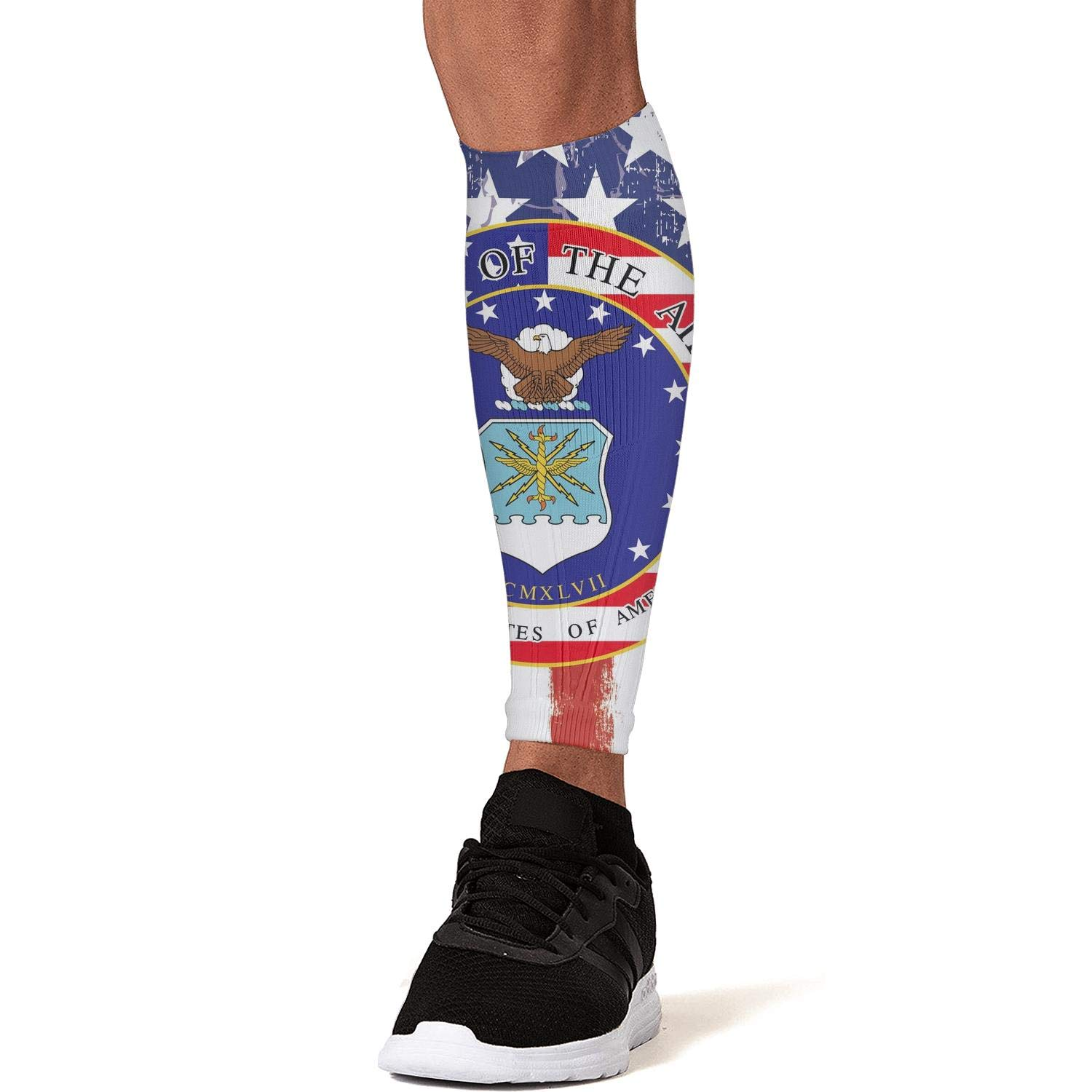 Smilelolly american flag us air force Calf Compression Sleeves Helps Pain Relief Leg Sleeves for Men Women