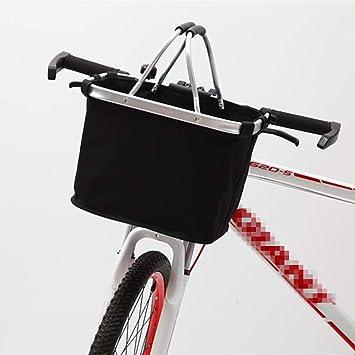 DaMohony Cesta para bicicleta, plegable, cesta frontal desmontable ...